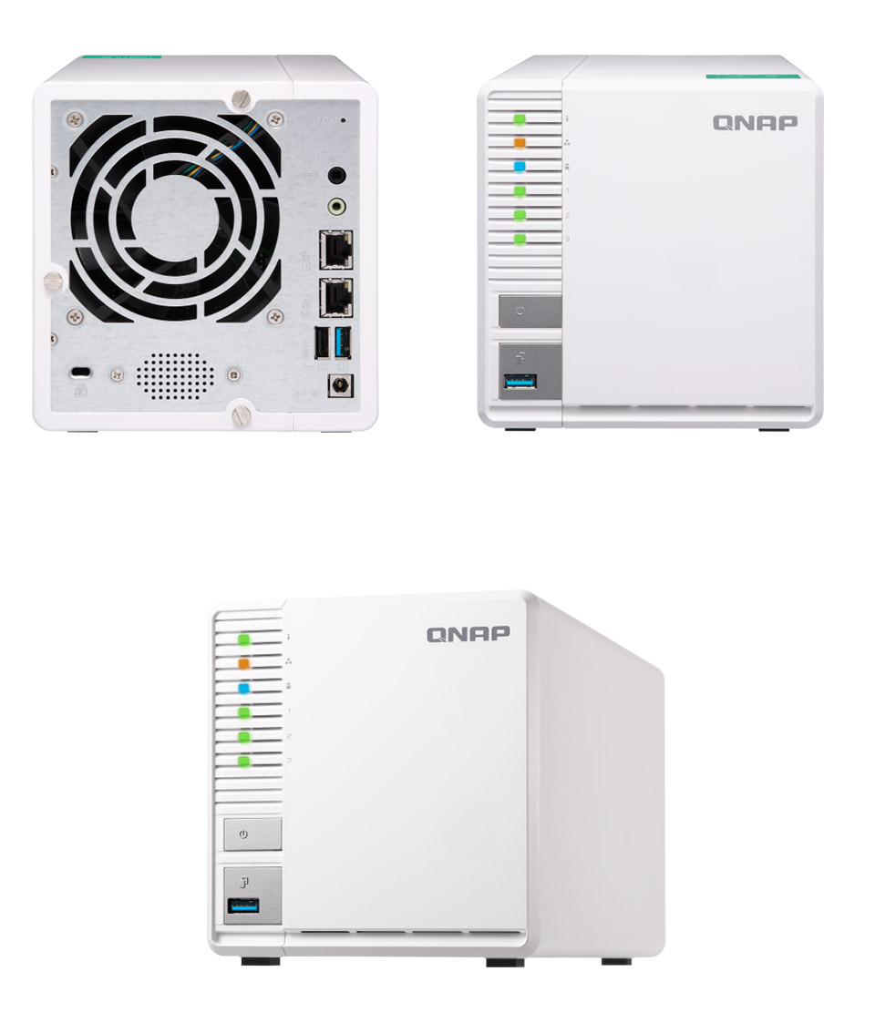 QNAP, TS-328, 3-bay, NAS, ARM, Quad-core, 1.4GHz, 2GB, DDR4, RAM, 2.5, /3.5, SATA, HDDs, 2xUSB3.0, 1xUSB2.0, 2y, RTB,