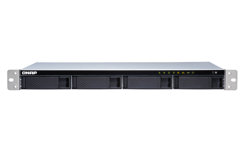 QNAP, TS-431XeU-2G, 4-Bay, quad-core, 1.7, GHz, short-depth, rackmount, NAS, with, 100W, power, supply, 2GB, DDR3, SODIMM, RAM, (max, 8G,