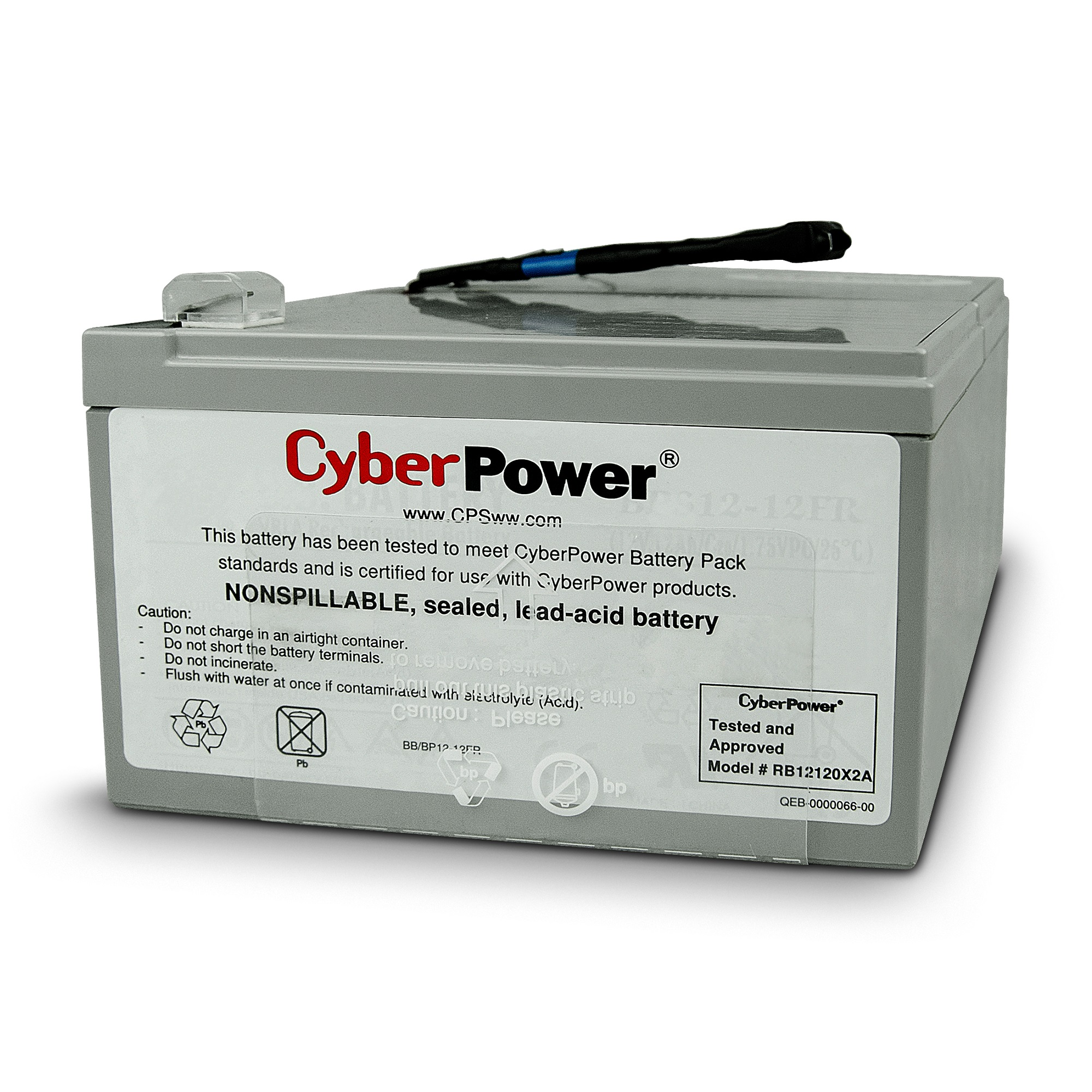 CYBERPOWER, RBP0106, Battery, Replacement, Cartridge, for, PR1000ELCD,