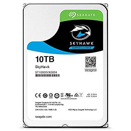 SEAGATE, SKYHAWK, 10TB, SURVEILLANCE, 3.5IN, 6Gb/S, SATA, 64MB, 7200RPM,