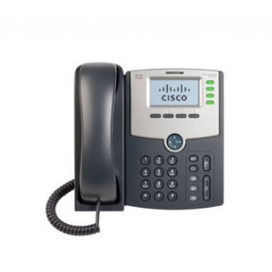 Cisco, (SPA504G), 4, Line, IP, Phone, with, Display, PoE, and, PC,
