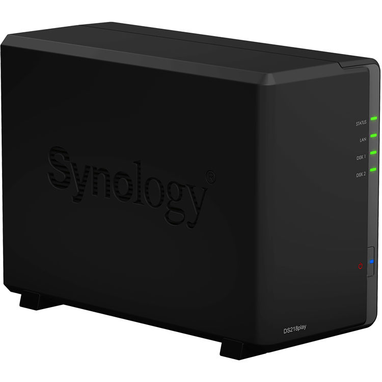 Synology, DS218play, DiskStation, 2-Bay, NAS,