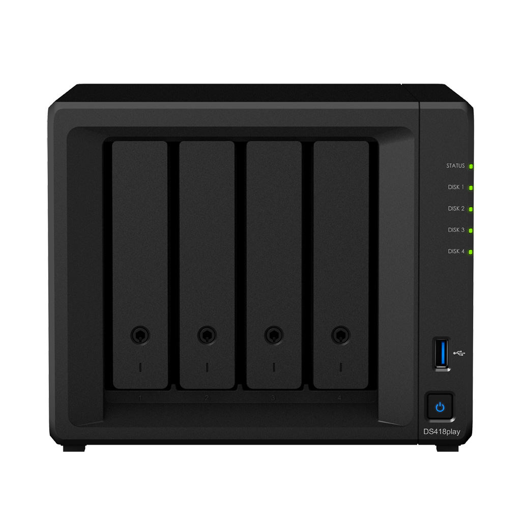 Synology, DS418Play, DiskStation, 4-Bay, NAS,