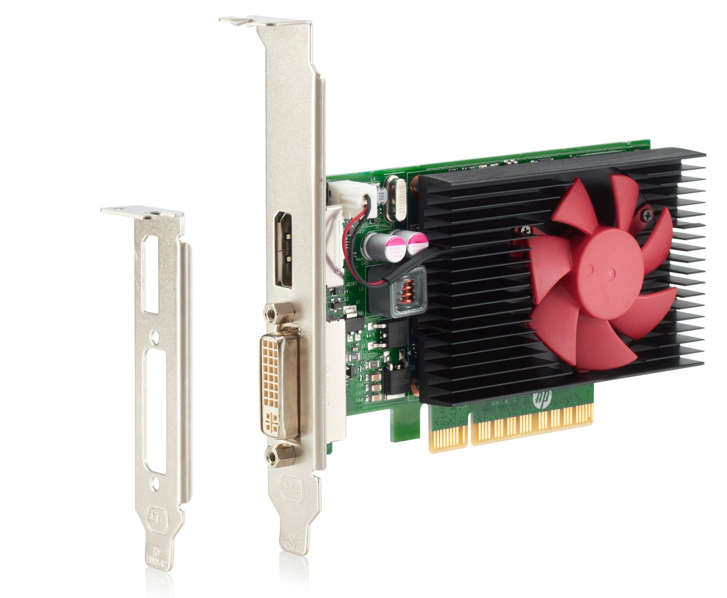 Hewlett-Packard, NVIDIA, GEFORCE, GT, 730, DP, 2GB, PCIE, X8, GFX,