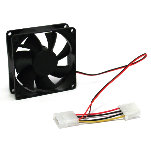 80mm, Silent, Case, Fan, -, Keeps, case, and, component, cool., Molex, Connector., Bulk, Pack., No, Screw, included., Molex, 4pin, (LS),