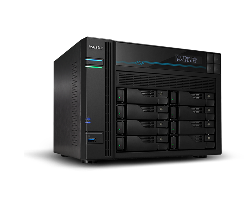 Asustor, AS6508T, Lockerstor, 8, 8, Bay, Dual, Intel, 10GbE, M.2, SSD, Cache, and, 2.5GbE, 2.1GHz(4, free, lincense, included),