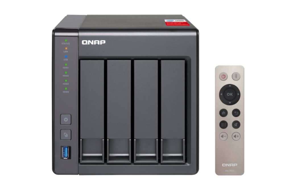 QNAP, TS-451+-2G, Network, Attached, Storage, 4BAY, (NO, DISK), CEL, QC-2.0GHz, 2GB, USB, GbE(2), Tower, 2YR,