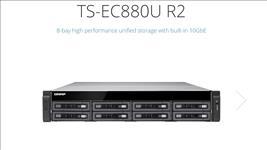QNAP, TS-EC880U-E3-4GE-R2, NAS, 8BAY, (NO, DISK), 4GB, XEON, E3, USB(8), 10GbE, SFP+(2), 2U, 3YR,