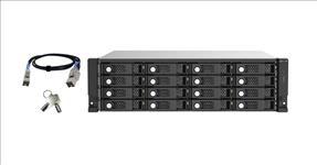 QNAP, TL-R1620Sep-RP, 16-bay, 3U, rackmount, SAS, 12Gbps, JBOD, expansion, enclosure, with, SAS, expander, 2.5, /3.5, SAS, 12Gbps, &, SA,