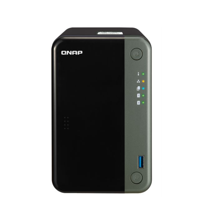 QNAP, TS-253D-4G, 2-Bay, NAS, Intel, Celeron, J4125, quad-core, 2.0GHz, (up, to, 2.7GHz), 4GB, DDR4, SODIMM, RAM, (1x4GB, max, 8GB, tota,