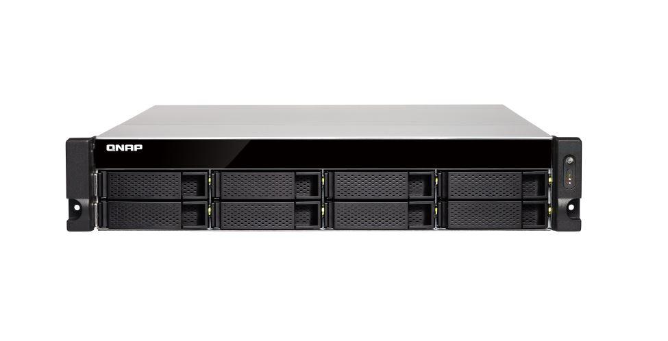 QNAP, TS-873U-8G, 8BAY, NAS(NO, DISK), RX-421ND, 4GB, 10GbE, SFP+, 2, GbE, x, 4, M.2, x2, 2U, 2, Years, Warranty,