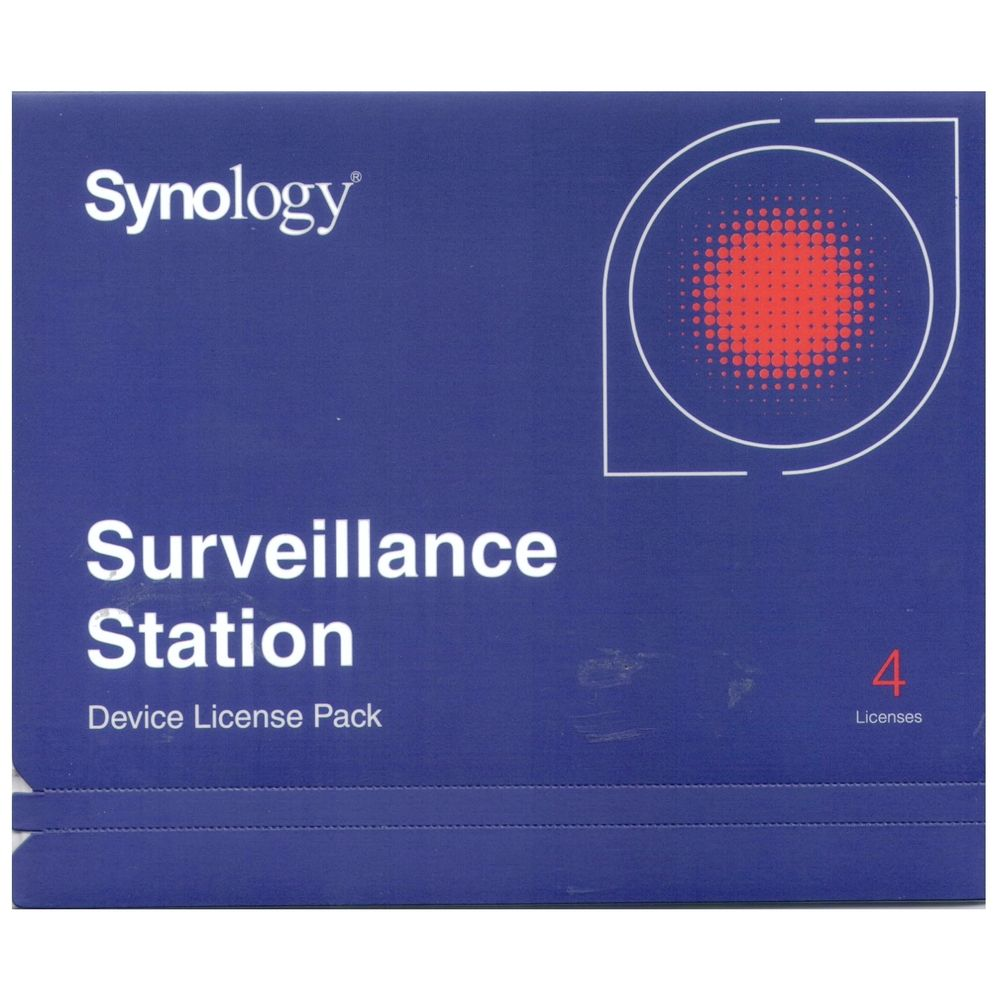 Synology, Surveillance, Device, License, Pack, For, Synology, NAS, -, 4, Additional, Licenses,