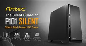 Antec, P101, Silent, ATX, E-ATX, Case, 1x, 5.25, 2x, 2.5, SSD, 8x, 3.5, HDD., VGA, up, to, 450mm, CPU, Height, 180mm., PSU, 290mm., Two,