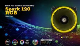 Antec, SPARK, 120, RGB, Dual-Ring, Design, Hydraulic, Bearing, LED, PWM, Fan., 2, Years, Warranty,