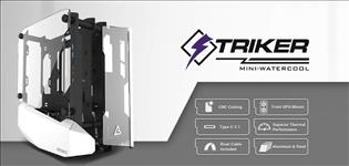 Antec, STRIKER, Open, Frame, Mini-ITX, Aluminium, and, Steel, Case, PCI-E, Riser, Cable, included., USB, 3.1, Type-C, Aluminium, Steel,
