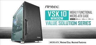 Antec, VSK10, Window, mATX, Case., 2x, USB, 3.0, Thermally, Advanced, Builder, s, Case., 1x, 120mm, Fan., Two, Years, Warranty,