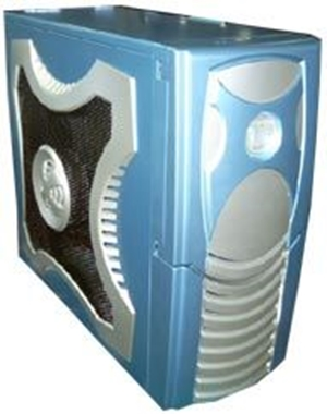 XClio, Gamer, ATX, Midi, Case, -, BLUE, w/o, PSU, Therm&, noise, reduction, (LS),