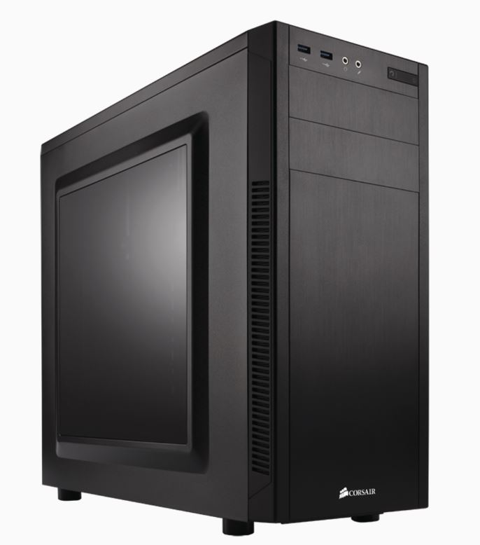 Corsair, 100R., mATX, Mini-ITX, ATX., Side, Window., Black, 7x, PCI, Slots., Mid-Tower, Case,