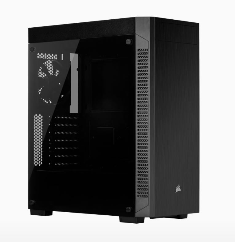 Corsair, 110R, Tempered, Glass, 5x, 120mm, or, 3x, 140mm, Cooling, 5.25, x, 1, 2.5, x, 2., Combo, 3.5, /2.5, Tray., USB, 3.1, Type-A, ATX,