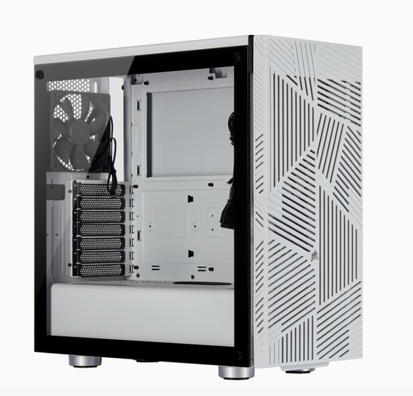 Corsair, Carbide, Series, 275R, Airflow, ATX, Tempered, Glass, White, 3x, 120mm, Fans, pre-installed., USB, 3.0, x, 2, Audio, I/O., Case,