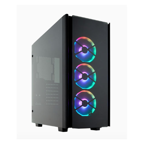 Corsair, Obsidian, Series, 500D, RGB, SE, Mid, Tower, Case, USB, 3.1, Type-C, Premium, Tempered, Glass, and, Aluminium, LL120, Fans, and,