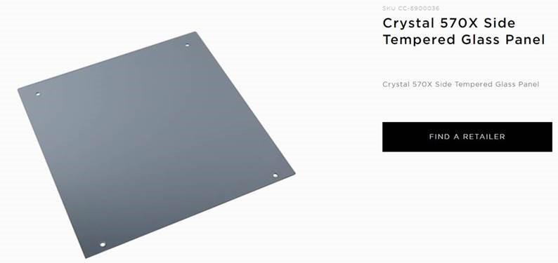 Corsair, 570X, RGB, Tempered, Glass, Panel,