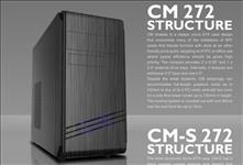 Casecom, CM-272, mATX, w/550W, USB3+USB2, HDAudio,