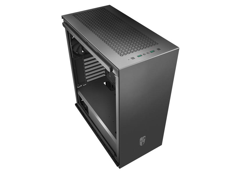 Deepcool, MACUBE, 310P, BK, Tempered, Glass, Case, Black, USB3.0*2, 7+2, SLOTS, Mini-ITX/mATX/ATX,
