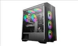 Deepcool, MATREXX, 55, V3, ADD-RGB, 3F, Tempered, Glass, Case, Supports, E-ATX, MB, W/, 3, Preinstalled, ARGB, Fans,