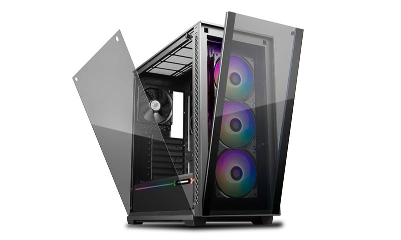 Deepcool, MATREXX, 70, ARGB, 3F, Full, Sized, Tempered, Glass, ARGB, Case, W/, 3, Preinstalled, ARGB, Fans,