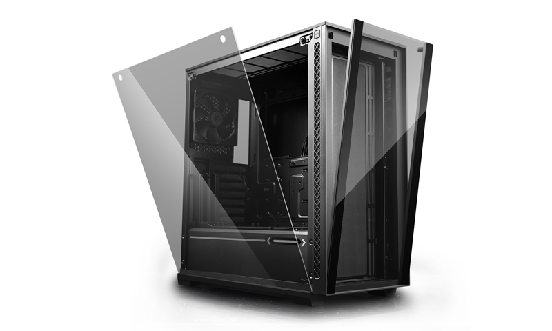 Deepcool, MATREXX, 70, Tempered, Glass, Mid, Tower, Case, Supports, Up, To, E-ATX, (330mm), MB,