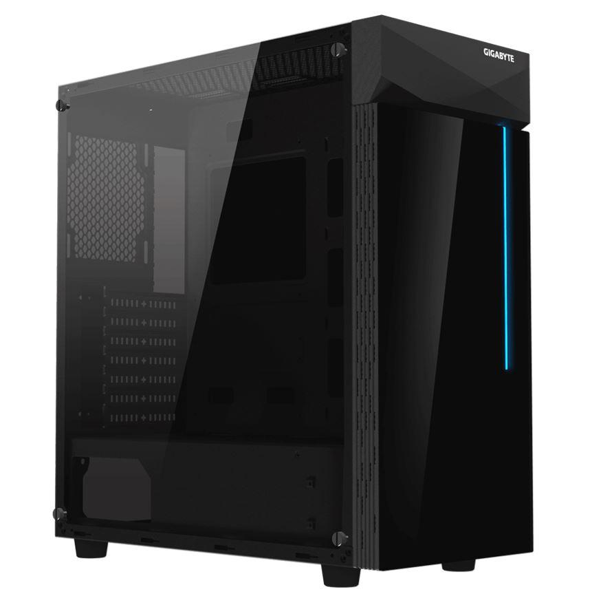 Gigabyte, C200, RGB, Tempered, Glass, ATX, Mid-Tower, PC, Gaming, Case, 2x3.5, 2x2.5, 2xUSB3.0, Detachable, Dust, Filter, Liquid, Cooli,