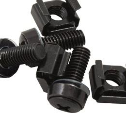 Hypertec, M6, Cage, Nut, Screws, Black, Pack, 40, LS~CAA-M6SCREW~RCLB-PP-NUT,