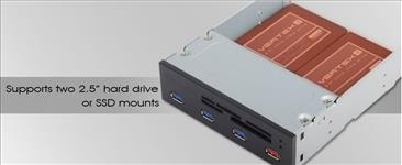 Silverstone, 5.25, Card, Reader, with, 4x, USB3.0, Port, (LS),