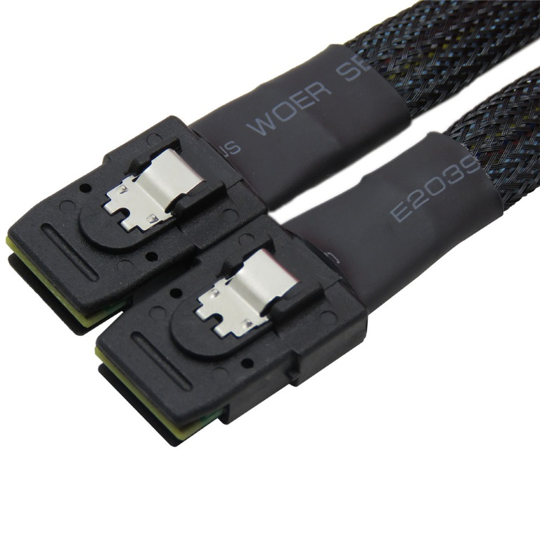 TGC, Chassis, Accessory, SFF-8087, to, SFF-8087, Cable, 60cm, (1-to-1), Mini, SAS, Backplane,