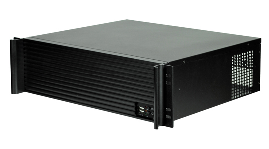 TGC, Rack, mountable3U, Short, Depth, Chassis, with, aluminium, Louver, front, up, to, 9, x, 3.5, HDD, (LS),