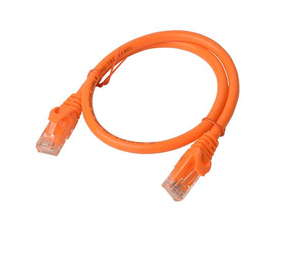8Ware, Cat6a, UTP, Ethernet, Cable, 0.5m, (50cm), SnaglessOrange,