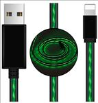 Astrotek, LED, Light, Up, Visible, Flowing, USB, Lightning, Data, Sync, Charger, Cable, Green, Charging, Cord, for, iPhone, 5, 6, 7, 8, Plus,
