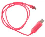 Astrotek, LED, Light, Up, Visible, Flowing, Micro, USB, Charger, Data, Cable, Pink, Charging, Cord, for, Samsung, LG, Android, Mobile, Phon,