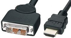 Hypertec, HDMI, Male, to, DVI-D, Male, Connect, Between, HDMI, DVI, 2M,
