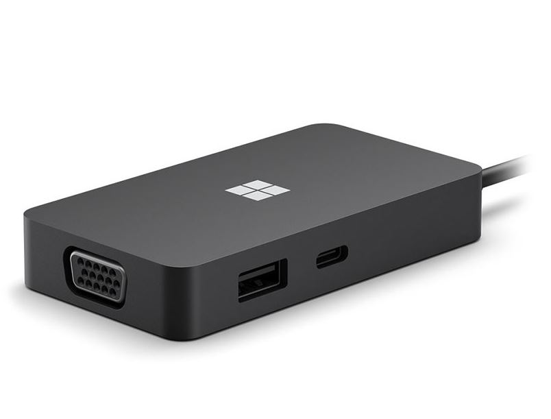 Microsoft, USB-C, TRAVEL, HUB, XZ/ZH/KO/TH, HDWR, BLACK,