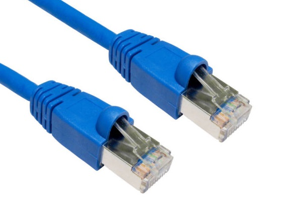 Hypertec, CAT6A, Shielded, Cable, 15m, Blue, Color, 10GbE, RJ45, Ethernet, Network, LAN, S/FTP, LSZH, Cord, 26AWG, PVC, Jacket,