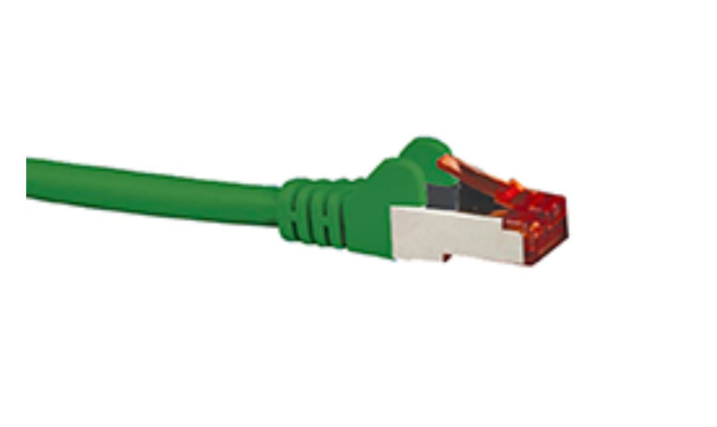 Hypertec, CAT6A, Shielded, Cable, 10m, Green, Color, 10GbE, RJ45, Ethernet, Network, LAN, S/FTP, Copper, Cord, 26AWG, LSZH, Jacket,