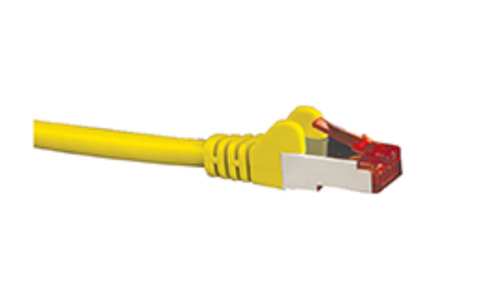 Hypertec, CAT6A, Shielded, Cable, 1m, Yellow, Color, 10GbE, RJ45, Ethernet, Network, LAN, S/FTP, Copper, Cord, 26AWG, LSZH, Jacket,