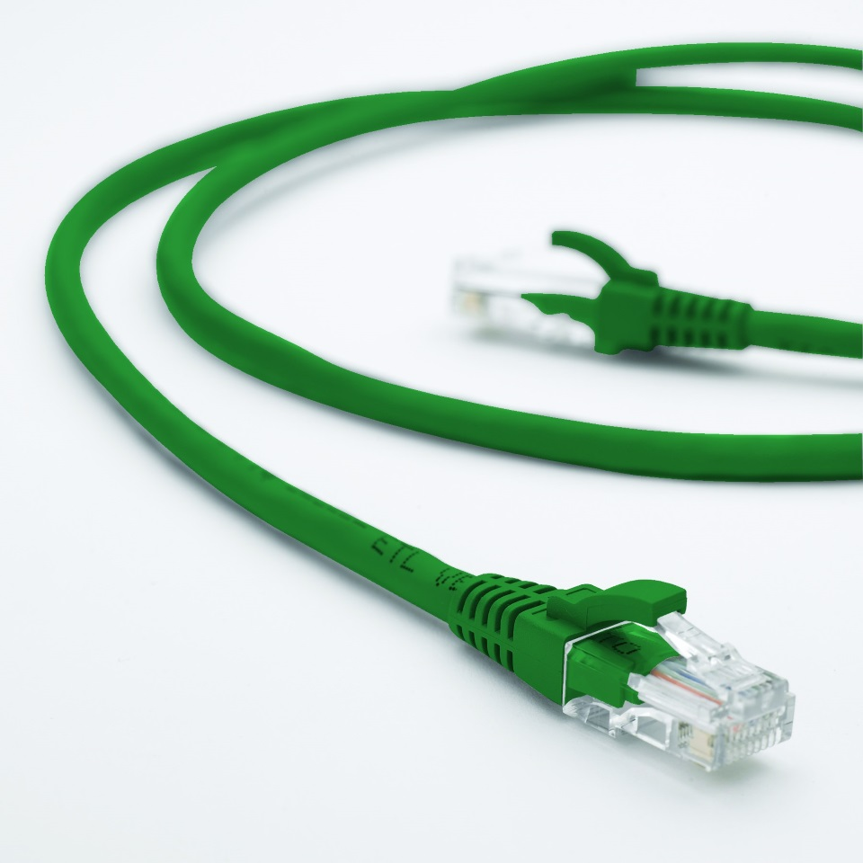 Hypertec, 1m, CAT6, RJ45, LAN, Ethernet, Network, Green, Patch, Lead,