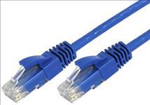 Hypertec, 0.3m, 30cm, CAT5, RJ45, LAN, Ethenet, Network, Blue, Patch, Lead,