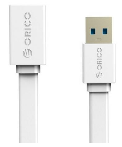 ORICO, 1M, USB3.0, AM, to, AF, Flat, USB, Cable, -, White,