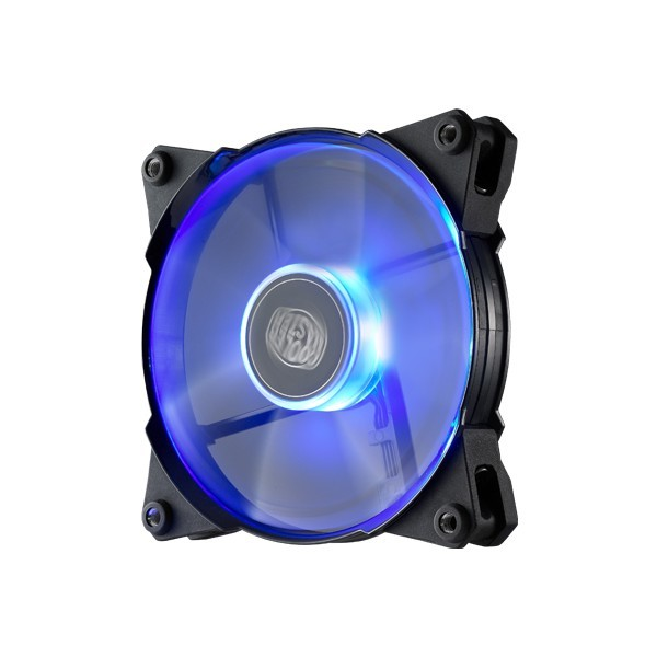 Coolermaster, Jetflo, 120mm, 4Pin, PWM, Case, Fan, with, Blue, LED,