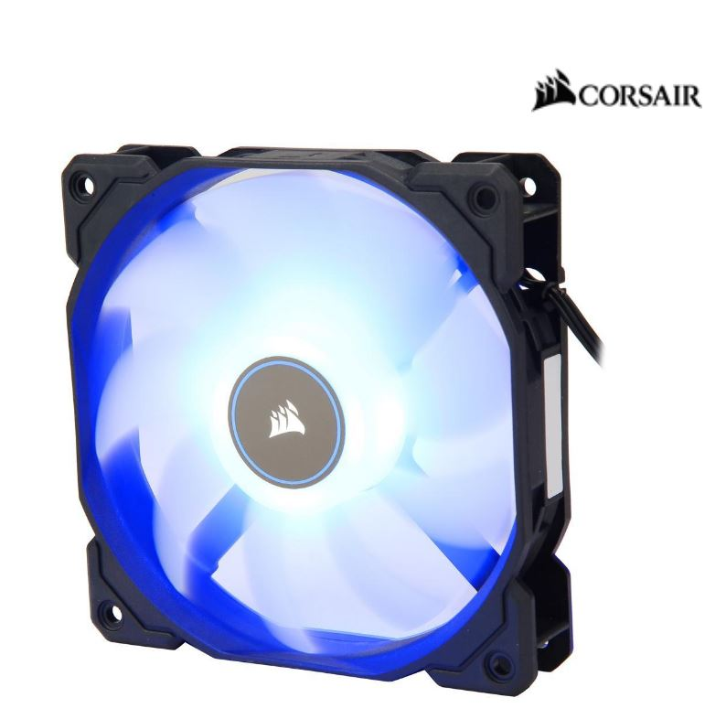 Corsair, Air, Flow, 120mm, Fan, Low, Noise, Edition, /, Blue, LED, 3, PIN, -, Hydraulic, Bearing, 1.43mm, H2O., Superior, cooling, performa,