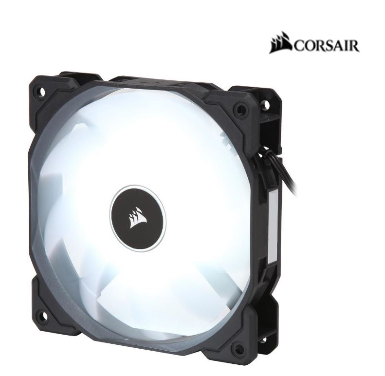 Corsair, Air, Flow, 120mm, Fan, Low, Noise, Edition, /, White, LED, 3, PIN, -, Hydraulic, Bearing, 1.43mm, H2O., Superior, cooling, perform,